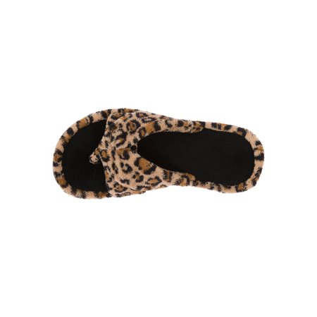 DF by Dearfoams Women's Double Strap Thong Slippers