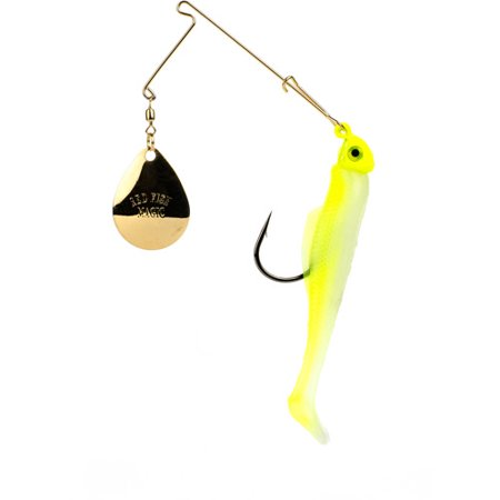 Strike King Redfish Magic Soft Bait  Chartreuse Glow Chartreuse Head