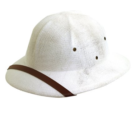 DPC Global Trends Men's Fine Twisted Toyo Pith Helmet White - Cheap Pith Helmet