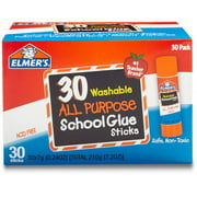 Elmer's Washable School Glue Sticks, 30-Pack