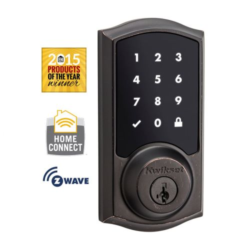 Kwikset 916TRL-ZW SmartCode Touchscreen Electronic Deadbolt with Z-Wave Technology