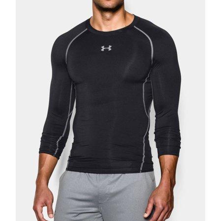 Under Armour Mens HeatGear Armour Long Sleeve Compression Shirt 1257471-001 Black