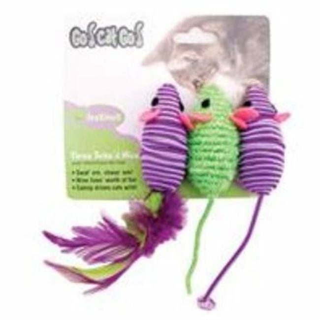 Ourpets Company 089995 Three Twined Mice Toy