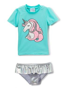 Freestyle Revolution Unicorn Rashguard Tankini Swimsuit (Baby Girls & Toddler Girls)