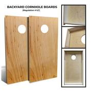 "Slick Woody's 48"" Backyard Alder Wood Cornhole Board Set in Natural (8 Bags)"
