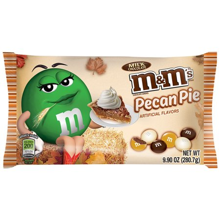 Bad Candy For Halloween ((4 Pack) M&M'S Halloween Pecan Pie Fall Harvest Blend Chocolate Candy Bag, 9.9)