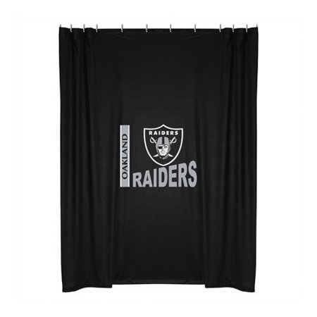Oakland Raiders NFL Shower Curtain 72x72