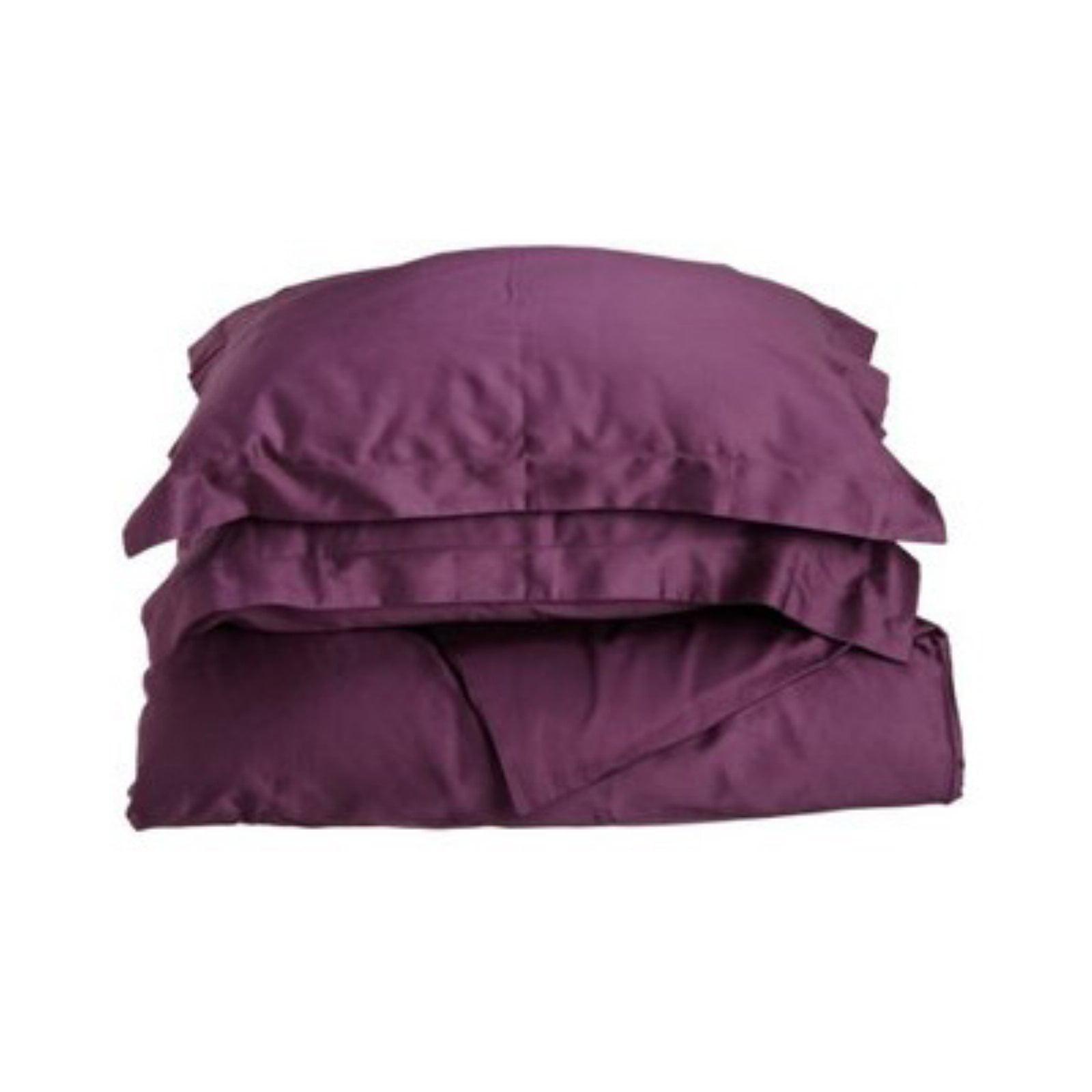 Superior 400 Thread Count 100% Premium Combed Cotton Solid Duvet Cover Set