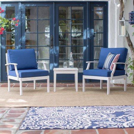 Belham Living Brighton Beach Wood 3 Piece Deep Seating Chat Set ()