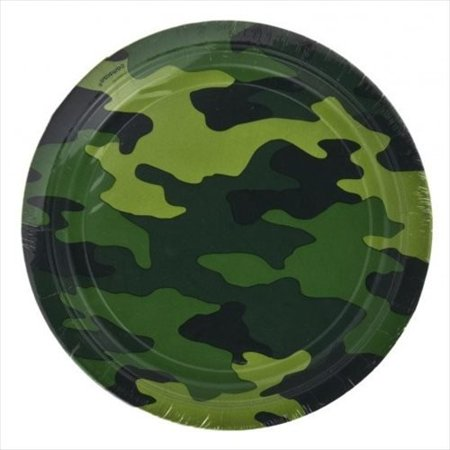 Military uflage Large Paper Plates (8ct), By Camo Ship from US