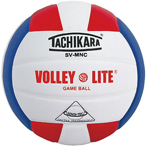 Tachikara Volley-Lite Volleyball, Red, White and Blue
