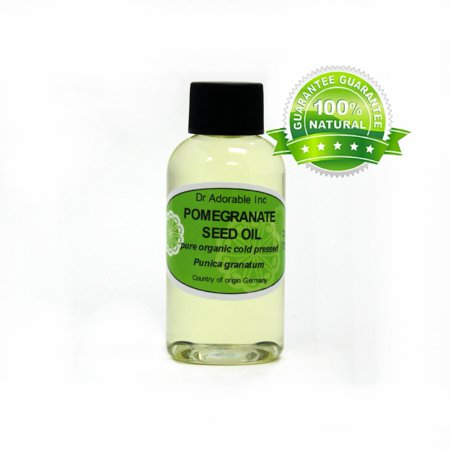 Dr. Adorable - 100% Pure Pomegranate Seed Oil Organic Cold Pressed Natural Hair Skin Care Anti Aging - 2 oz Pomegranate Dry Oil