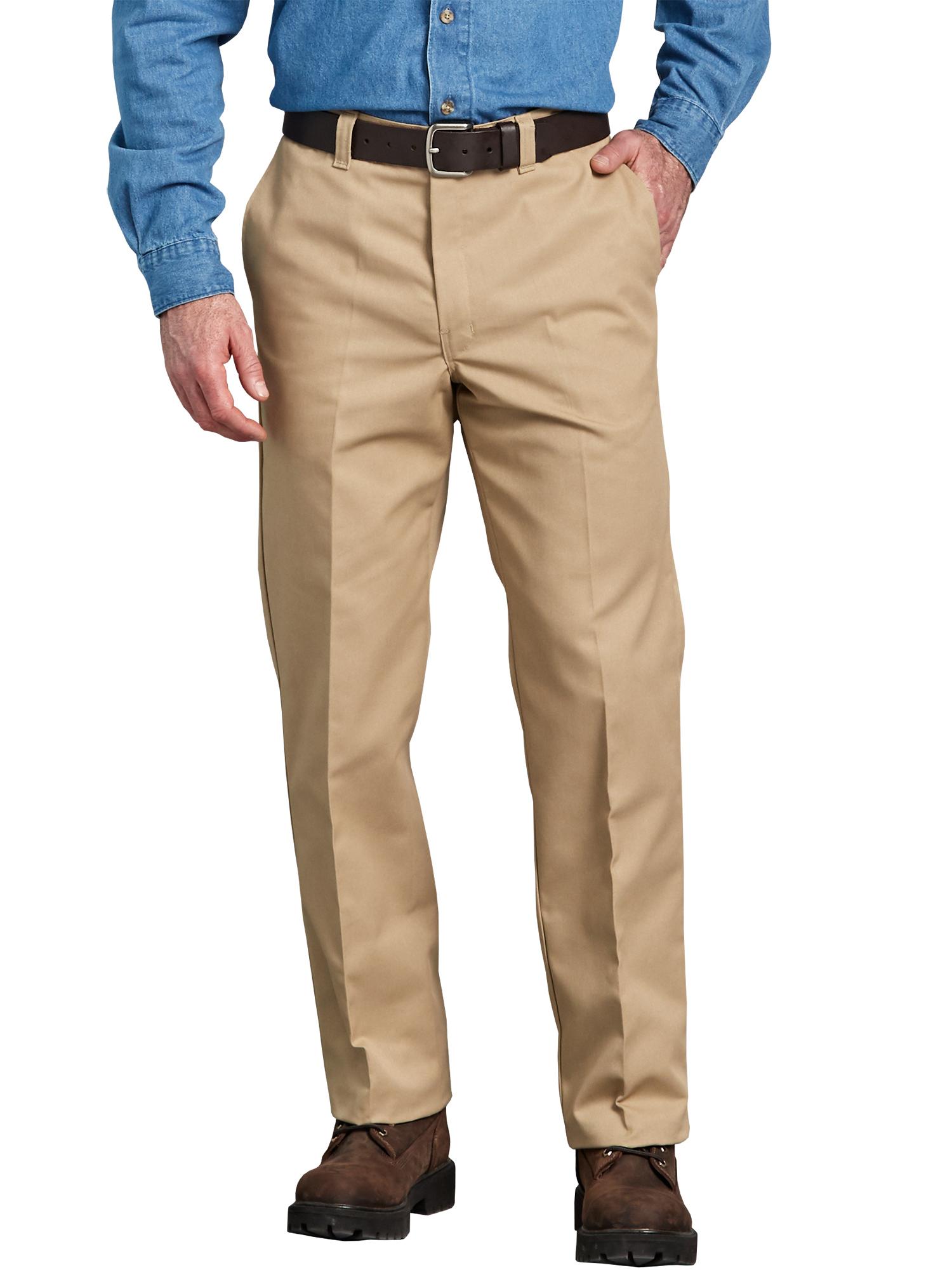 Big Men's Regular Fit Straight Leg Flat Front Pant