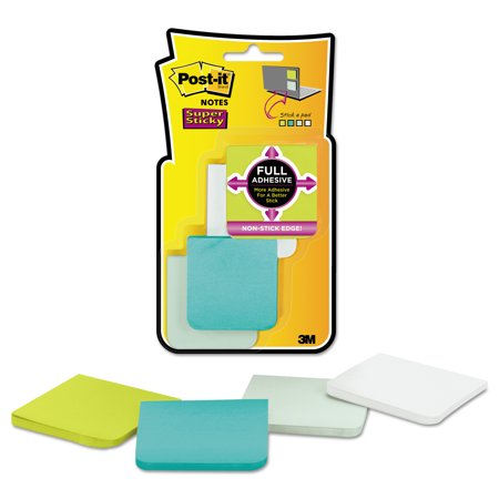 Post-it Notes Super Sticky Full Adhesive Notes, 2 x 2, Assorted Bora Bora Colors, 25-Sheet, 8/Pack -MMMF2208SSFM ()