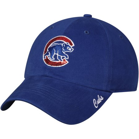 Fan Favorite Women's '47 Royal Chicago Cubs Sparkle Adjustable Hat - OSFA - Kc Royals Hats