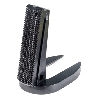 Fusion Firearms 1911 Mag-Well Mainspring Housing - Government, Checkered, Black
