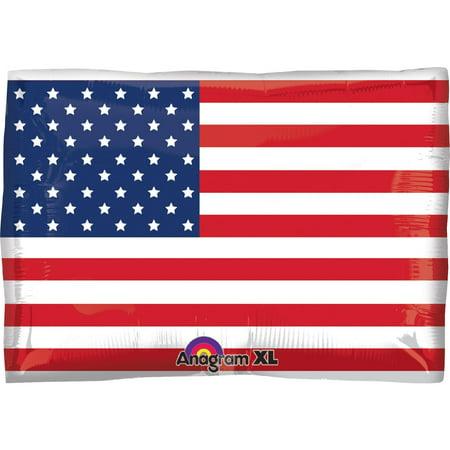 American Flag Foil Balloon - Flag Balloons