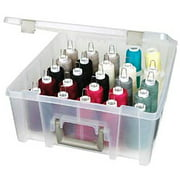 ArtBin Super Satchel Double Deep with Removable Dividers:  Clear Art Craft Storage Box,6990AB
