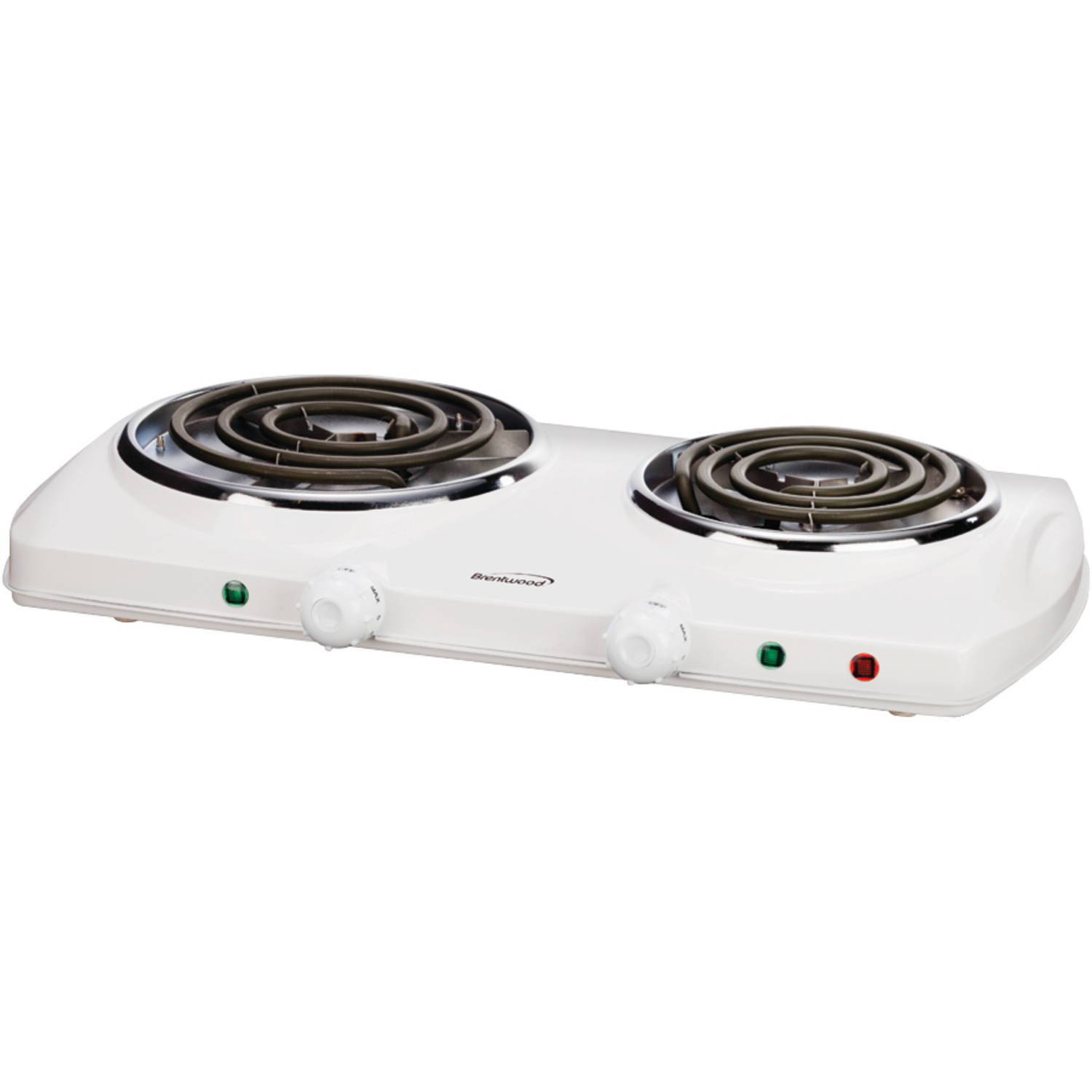 Brentwood Ts-368 Electric Double Burner, White