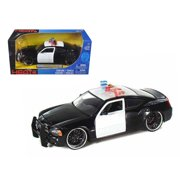 2006 Dodge Charger R/T Unmarked Police 1/24 Diecast Car Model by Jada