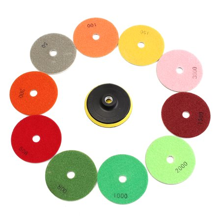 - 50-3000 Grit Diamond Waffle Buffer Compound Waxing Polishing Pads Wheel Grinding Disc For Granite Marble Concrete Stone polishing tool Car Polisher