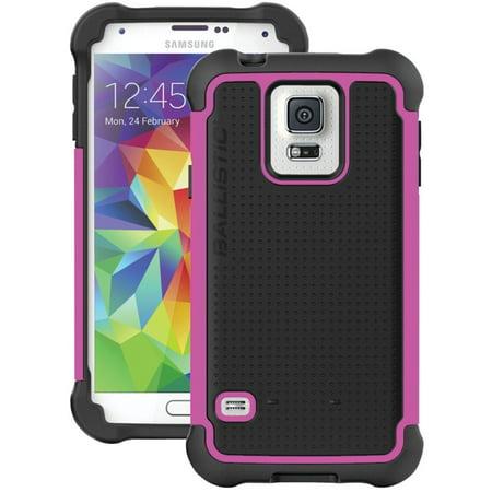 New OEM Ballistic Tough Jacket Black/Pink Case For Samsung Galaxy S5 Mini (Samsung Galaxy S5 Mini Tough Case)