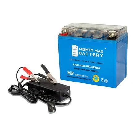 YTX12-BS GEL Replaces Yuasa SYM 300 Citycom 08-09 + 12V 2Amp - Kid City.com