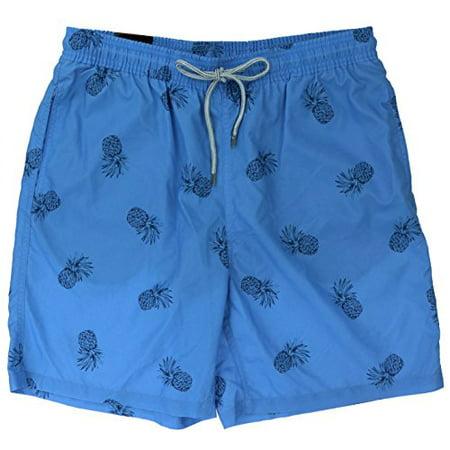 33c7bd3eabfa9 Kirkland Signature - MEN'S SWIM SUIT SHORTS, Swim Trunks (Medium, Blue  Pineapple) - Walmart.com