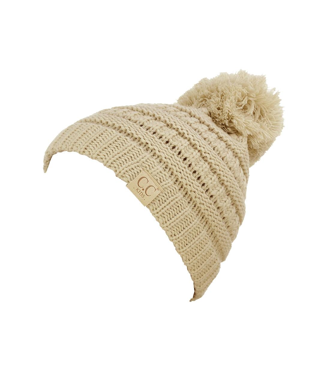 NYFASHION101® Kids C.C Cute Warm and Comfy Pom Pom Knit Ski Beanie Hat