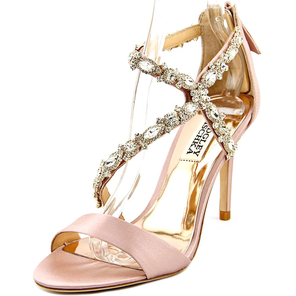 Badgley Mischka Caress Open Toe Canvas Sandals by Badgley Mischka