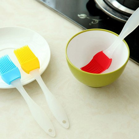 Grilling BBQ Baking, Pastry, and Oil Stainless Steel Brushes with Back up Silicone Brush Heads for Kitchen Cooking & Marinating, Dishwasher Safe( 3 pcs) pcs) - image 5 of 8