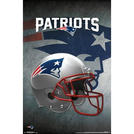 New England Patriots Helmet NFL Sports Poster 22x34