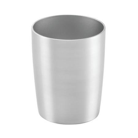 Bamboo Vanity Top Tumbler - InterDesign 39330 Rustproof Alumina Tumbler Cup for Bathroom Vanity Countertops - Brushed