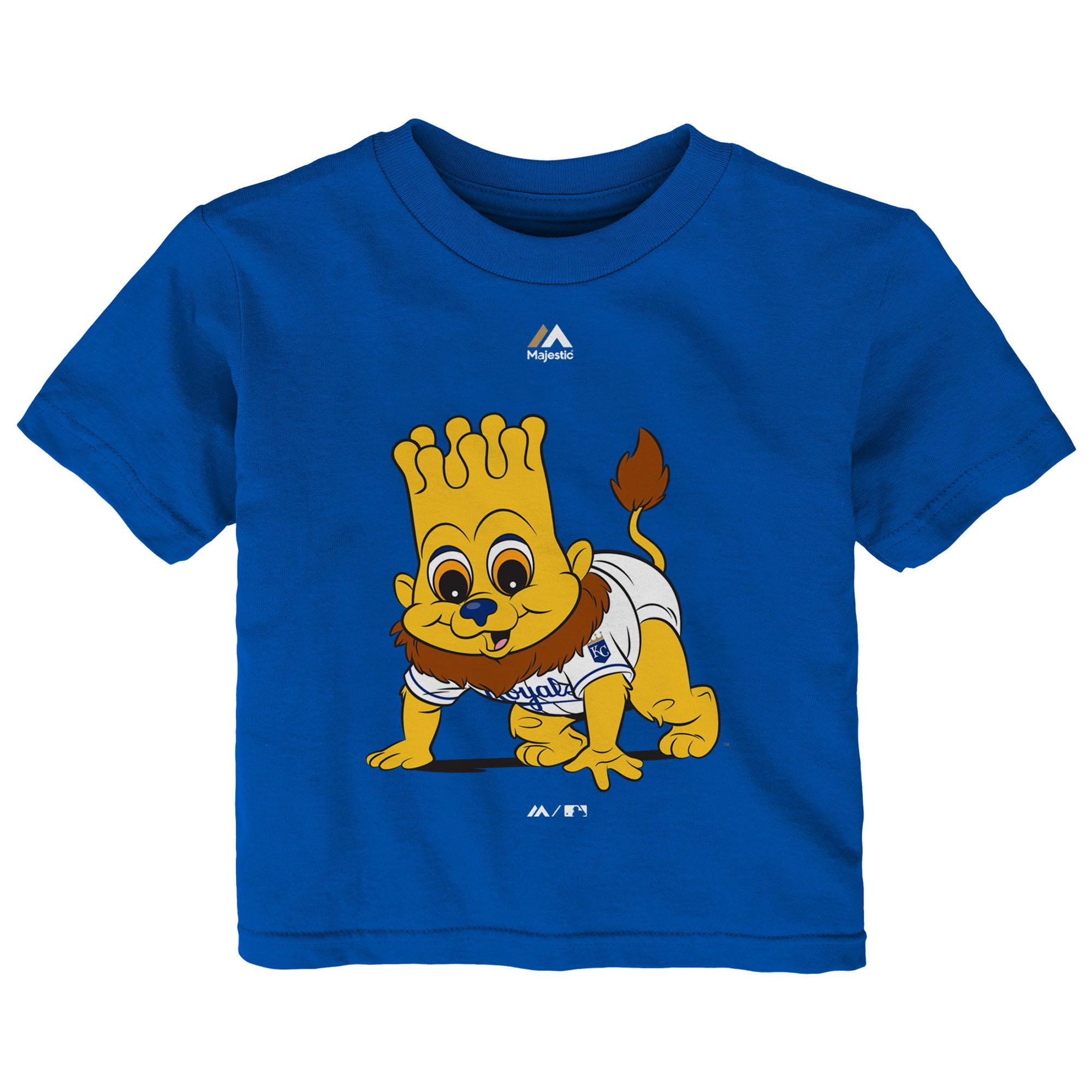 Kansas City Royals Majestic Infant Baby Mascot T-Shirt - Royal