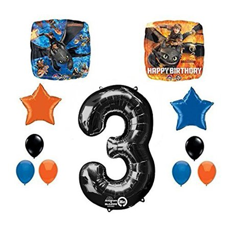 NEW How to Train Your Dragon 3rd Birthday Party Supplies and Balloon - Create Your Own Balloon