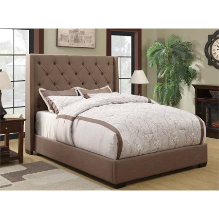 Pulaski Shelter Linen Upholstered King Bed In Taupe Brown