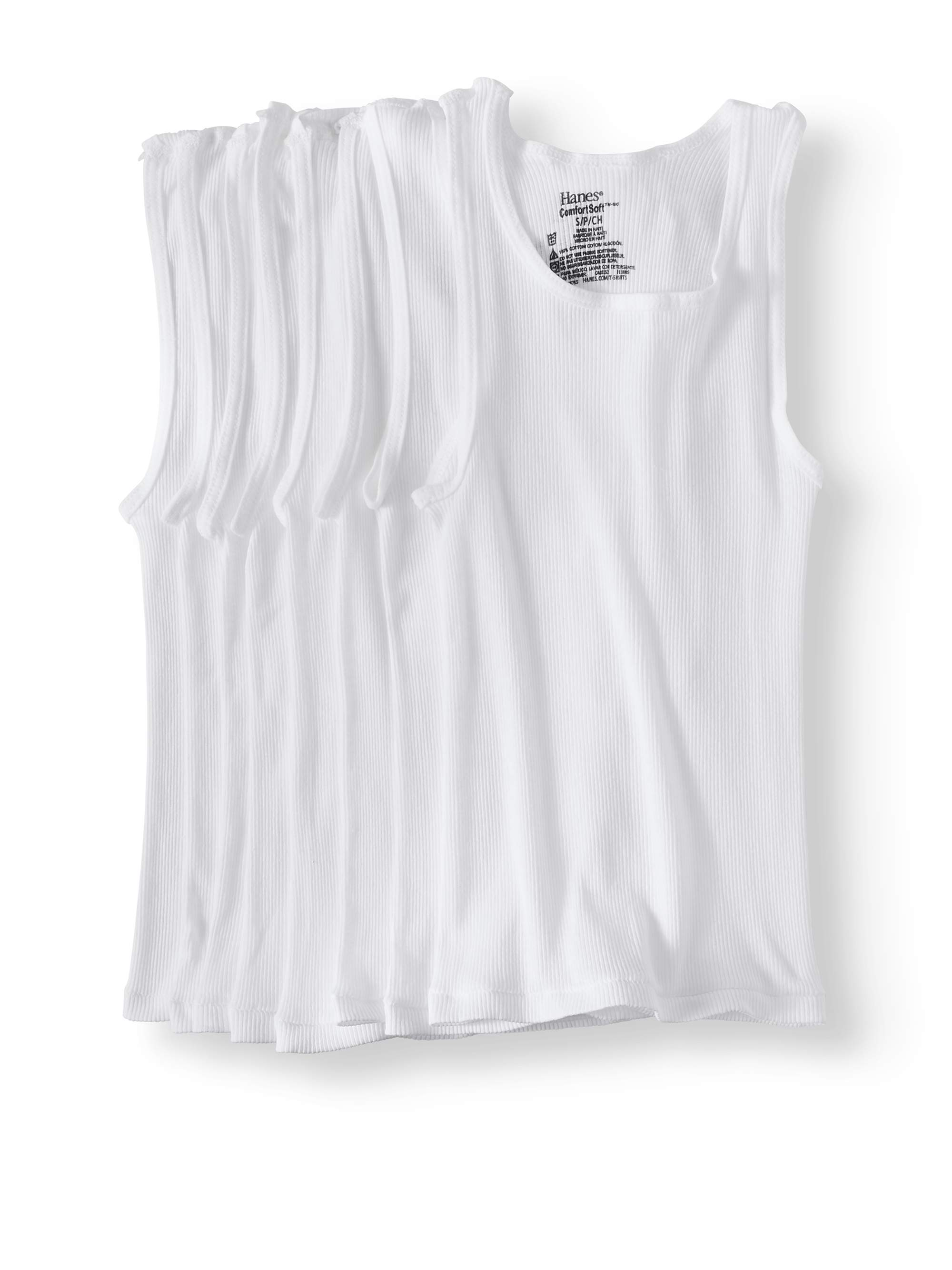 Fruit of the Loom Boys 8Pack White Crew-Neck T-Shirts Kids Undershirts