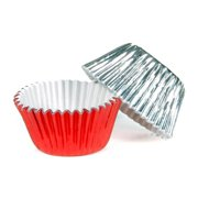 Make N Mold 5025V2 Red and Silver Foil Candy Cups- pack of 12