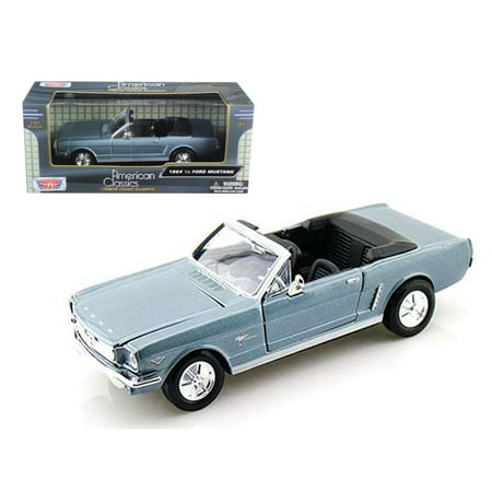 1964 1/2 Ford Mustang Convertible Blue 1/24 Diecast Model Car by Motormax 1964 1/2 Mustang Convertible