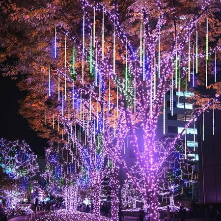 Meteor Seattle Halloween (Meteor Shower Rain Drop Lights 50cm 10 Spiral Tubes 540 LEDs Waterproof Icicle Snowfall String Lights for Wedding Christmas Xmas Halloween Garden Tree Home Decor)