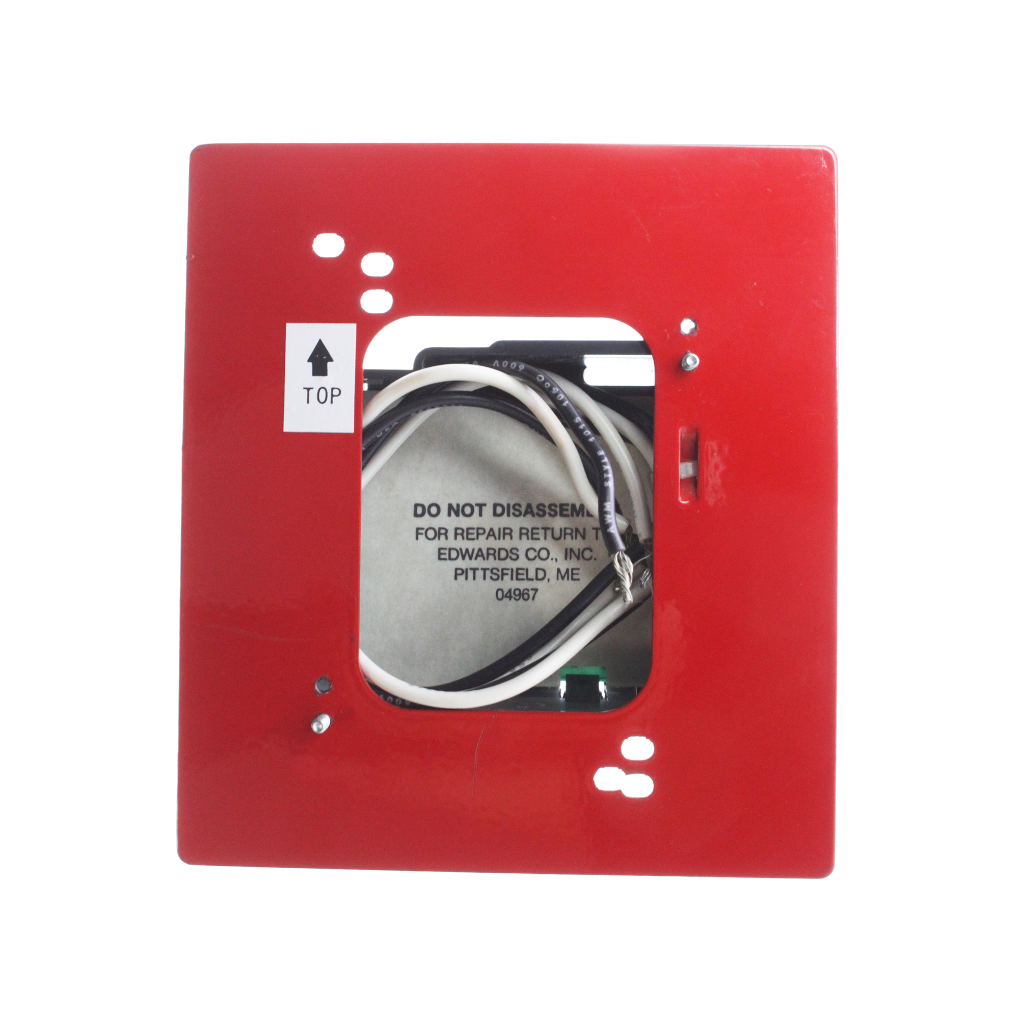 Edwards EST 6296B-100 Manual Pull Station Transponder Module, Red