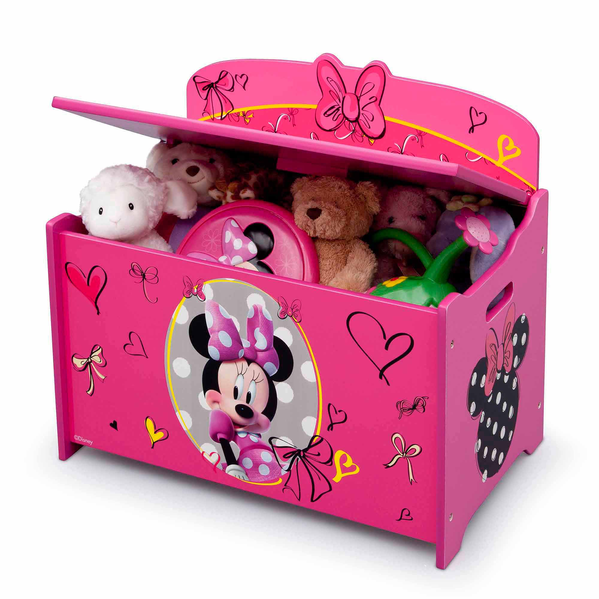 Superbe Disney Minnie Mouse Deluxe Wood Toy Box By Delta Children   Walmart.com