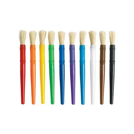 Colorations Plastic Chubby Paint Brushes - Set of 10 (Item # 10PCB) Chubby Paint Brush Set