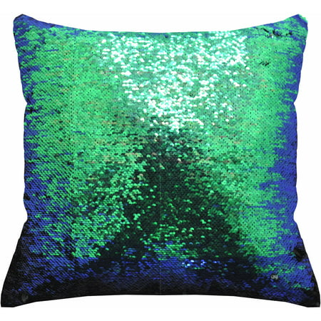 "Mainstays Reversible 17""x17"" Sequin Sparkle Pillow, Available in Multiple Colors ()"