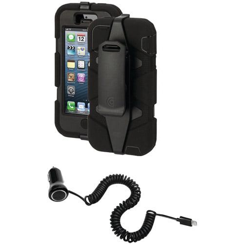 Griffin Apple iPhone 5/5s Survivor Case with PowerJolt Car Charger