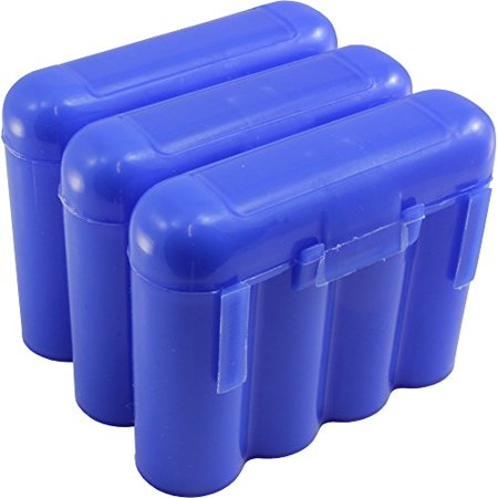 3 Brand New AA AAA CR123A Blue Battery Holder Storage Cases