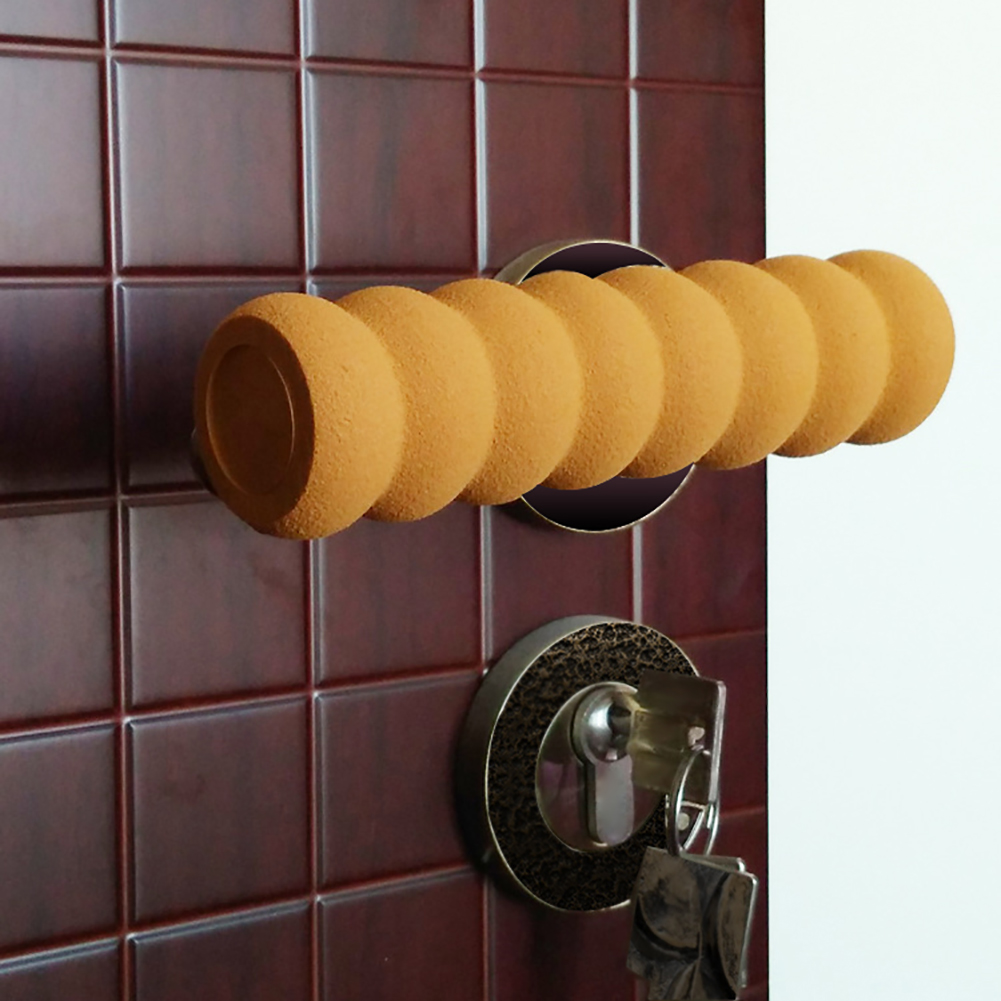 Directer Soft Spiral Cylinder Baby Wall Protective Anti-Collision Door Handle Cover Case