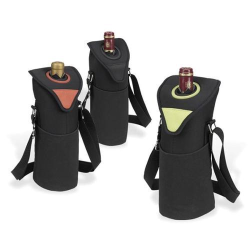 Picnic at Ascot 411-BLK Neo Single Bottle Tote in Black