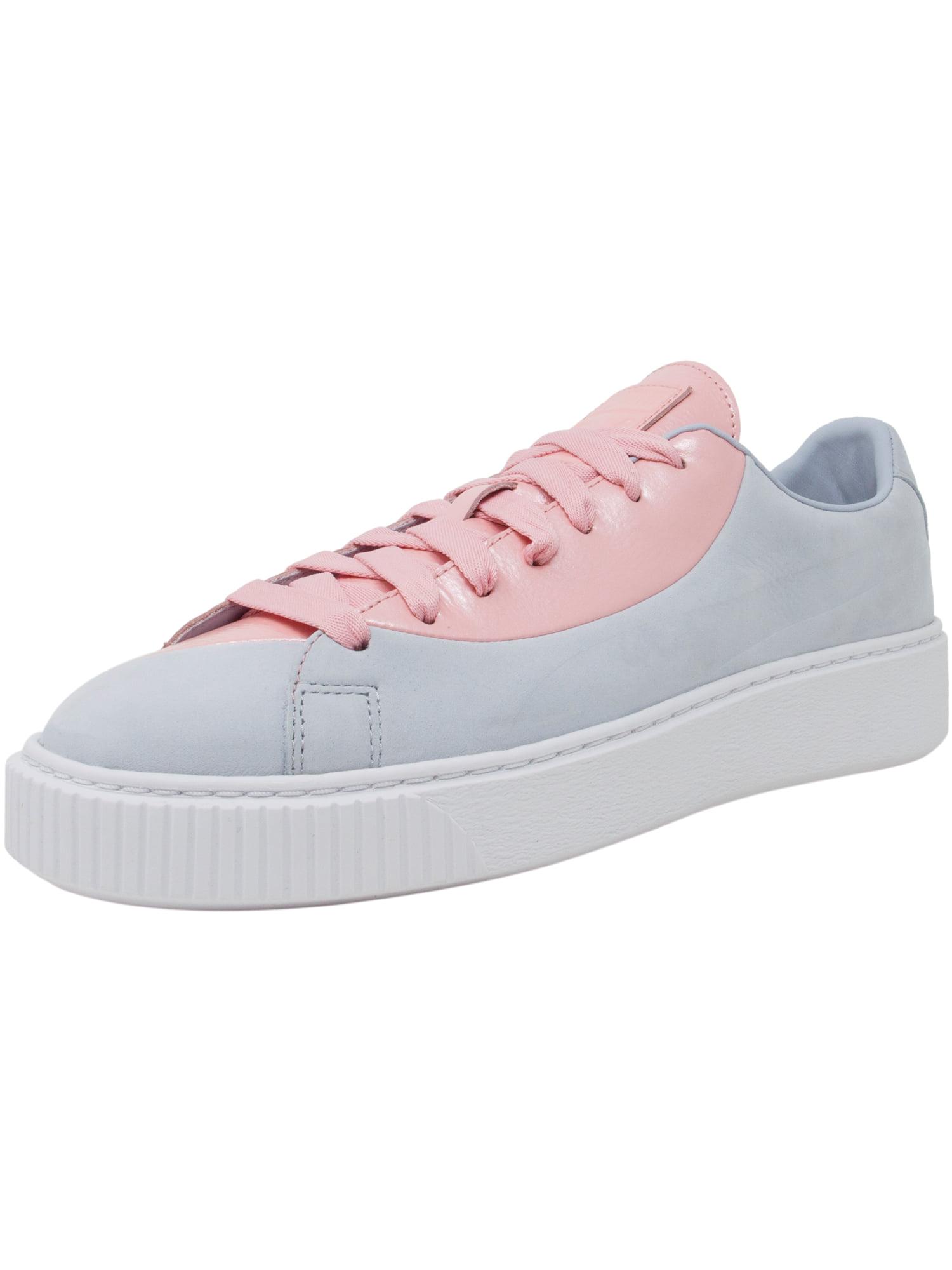Puma Women's Basket Platform Val Fm Grey Dawn Ankle-High Leather Fashion Sneaker - 11M