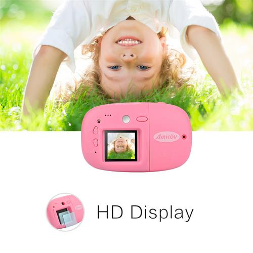 AMKOV HD 1.44inch Kids Mini Digital Camera Video Recorder Camcorder Gift for Children